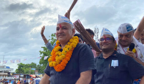 AAP's Manish Sisodia boosts energy into the civic elections in Gandhinagar