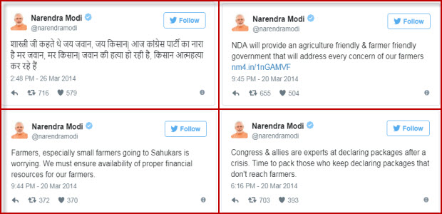 PM-Modis-Old-tweets-on-farmers-issues