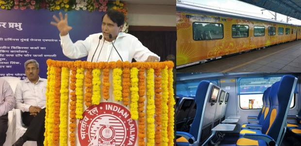 Suresh Prabhu Inaugrated Tejas Express