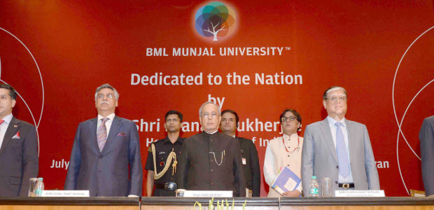 The-President-at-the-dedication-ceremony-of-the-BML-Munjal-University