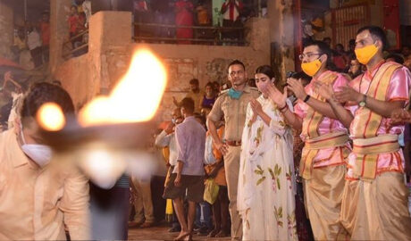 Pooja Hegde offered prayers in Varanasi ahead of the release of Most Eligible Bachelor